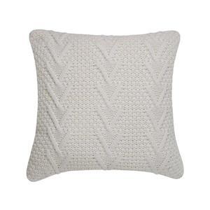 Coussin décoratif Millano, torsades, blanc