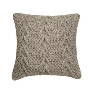 Millano Collection 18-in Beige Cable Knit Decorative Cushion