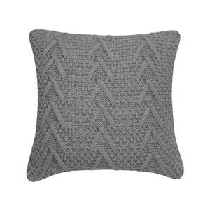 Coussin décoratif Millano, torsades, gris