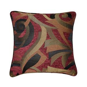 Millano 18-in Red with Multiple Colours Casino Decorative Cushion