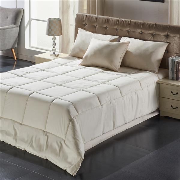 Couette Milano, grand lit, coton, ivoire