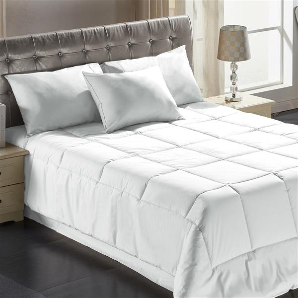 Couette Milano, lit double, polyester, blanc
