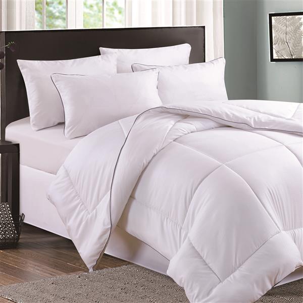 Couette Milano, très grand lit, polyester, blanc