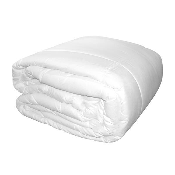 Ens. de courtepointe, lit double, polyester, blanc