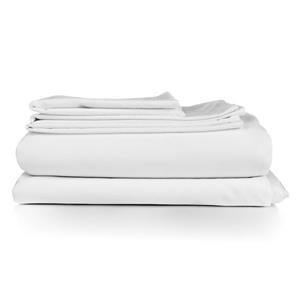 Millano North Home Bedding Millano Collection Twin 3-Piece White Duvet Cover Set