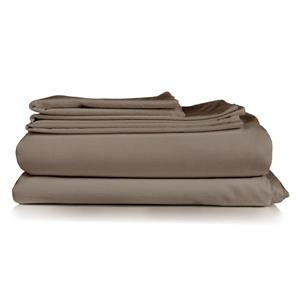 North Home Bedding Milano Queen 4-Piece Brown Duvet Cover Set