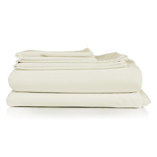 Millano North Home Bedding Millano Collection Queen 4-Piece Off-White Duvet Cover Set