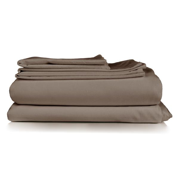 Millano North Home Bedding Millano Collection Double 4-Piece Brown Duvet Cover Set