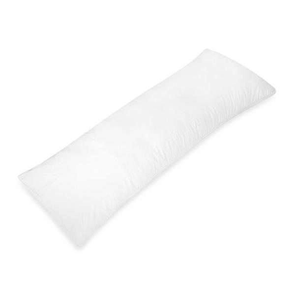 Millano Collection Polyester 20-in x 48-in Polyester White Body Pillow