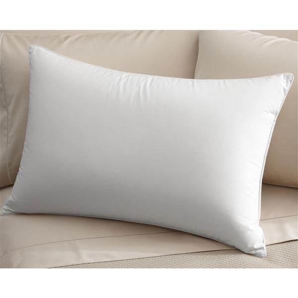 """Oreiller Millano, 26"""" x 20"""", coton, blanc"""