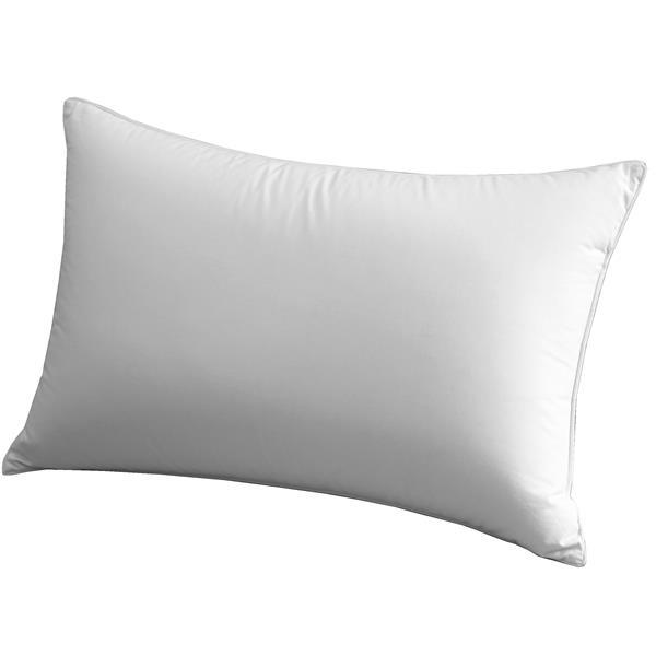 """Oreiller Millano, 20"""" x 30"""", coton, blanc"""