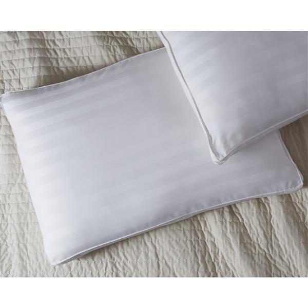 """Oreiller Millano, 19"""" x 29"""", coton, blanc"""
