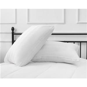 Millano White Cotton 19-in x 29-in Pillow
