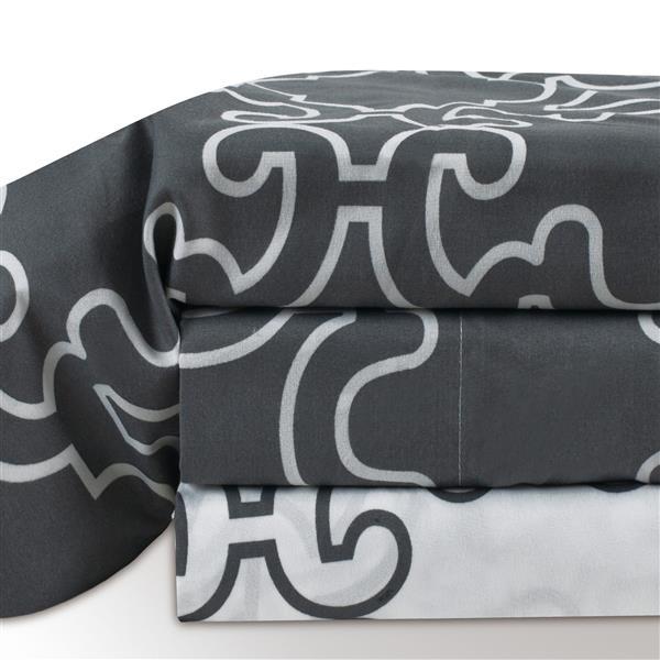 Millano Vista Polyester Double Multiple colours Sheet Set (4 Pieces)