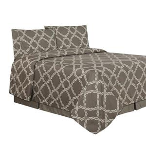 Millano Trellis Polyester Multiple Colours Double Sheet Set (4 Pieces)