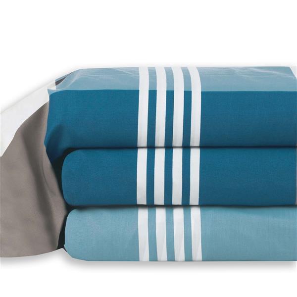 Ens. de draps Spencer, grand lit, polyester, 8 pièces