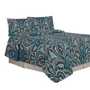 Millano Paisley Polyester Double Sheet Set (4 Pieces