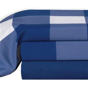 Millano Oxford Polyester Multiple Colours Queen Sheet Set (4 Pieces)