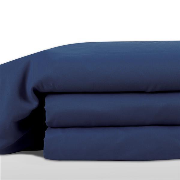 Ens. de draps Hamshire, lit double, polyester, 8 mcx
