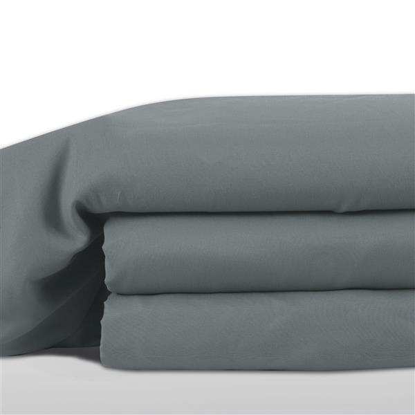 Ens. de draps Hamshire, très grand lit, polyester, 8 pièces