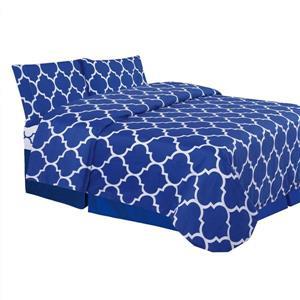 Ens. de draps Holbrooke, très grand lit, polyester, 4 mcx