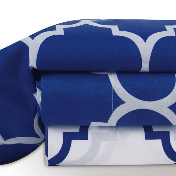 Ens. de draps Holbrooke, lit double, polyester, 4 mcx
