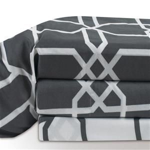 Millano Concord Polyester Multiple Colours Queen Sheet Set (4 Pieces)