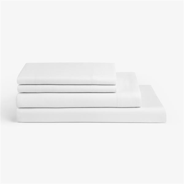 Millano 1200 Thread-Count Polyester White Twin Spa Sheet Set (3 Pieces)