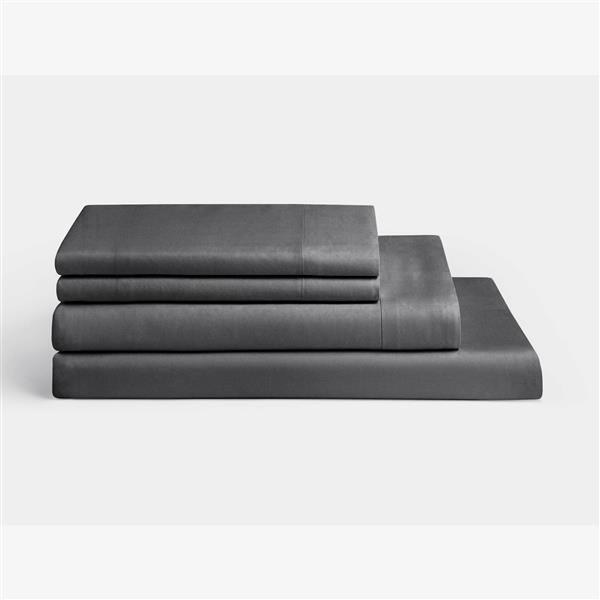 Millano 1200 Thread-Count Polyester Grey Twin Spa Sheet Set (3 Pieces)