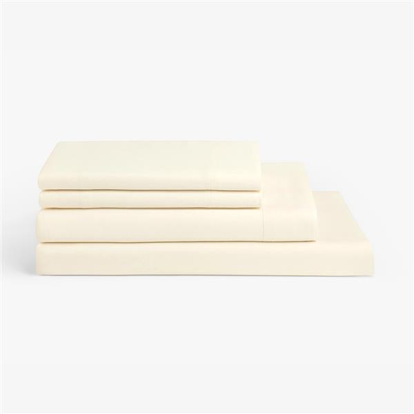 Millano 1200 Thread-Count Polyester Off- White Spa King Sheet Set (4 Pieces)