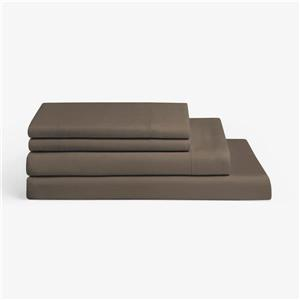 Milano Collection 1200-Thread Count Polyester Brown Double Sheet Set (4 Pieces)