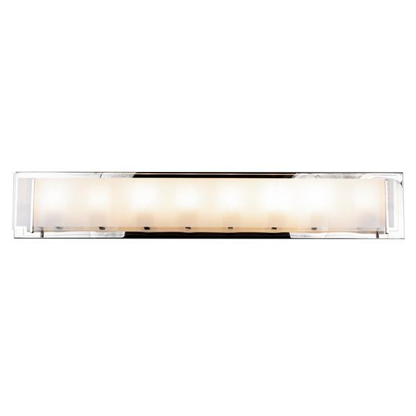 """Luminaire meuble-lavabo Brina à 8 lumières, Chrome, 36"""""""