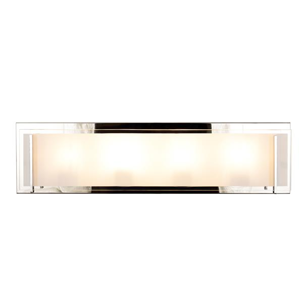 """Luminaire meuble-lavabo Brina à 4 lumières, Chrome, 24"""""""