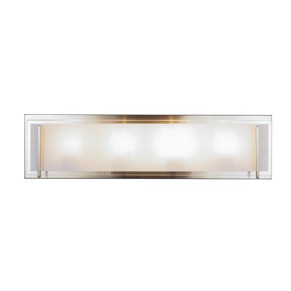 Levico Lighting Brina 4-Light 24-in Brushed Nickel Vanity Light