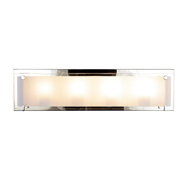 Levico Lighting Bree 4-Light 24-in Chrome Vanity Light