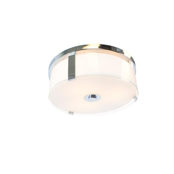 """Plafonnier Capri à 3 lumières, Chrome, 17"""""""