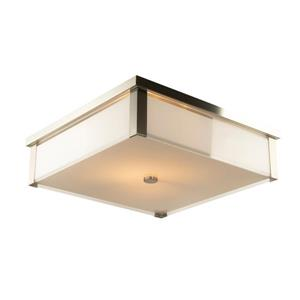 Levico Lighting Verona 20-in Brushed Nickel 3-Light Flush Mount