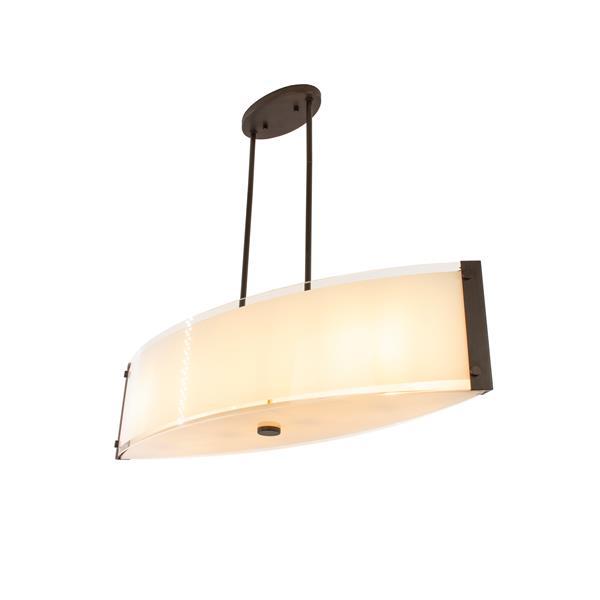 """Suspension Capri à 4 lumières, Bronze, 32"""""""