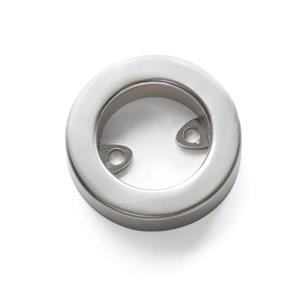 Colonial Elegance Disk Brushed Nickel Door Pull