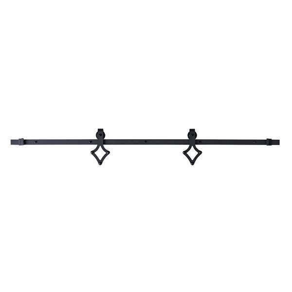 Système de rail pour porte coulissante Diamond, noir