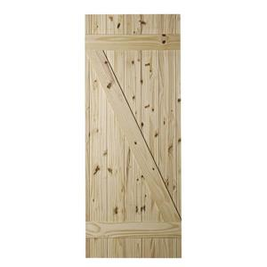 Colonial Elegance 33-in x 84-in Natural Pine Cellar Barn Door
