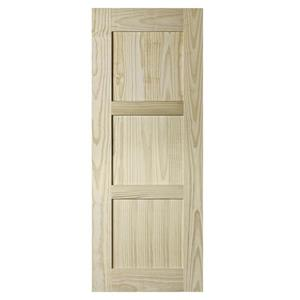 Colonial Elegance 33-in x 84-in Natural Pine Shaker Barn Door