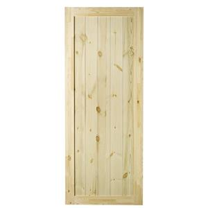 Rustic Barn Door - Natural Pine - 33''