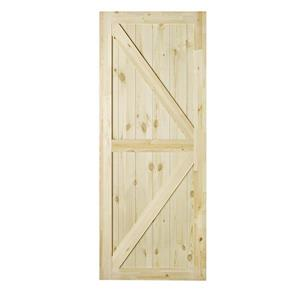 Colonial Elegance 37-in x 84-in Natural Pine Artisan Barn Door