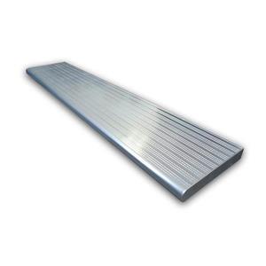 """Marche en aluminium, 36'' x 9 ¾"""", argent"""