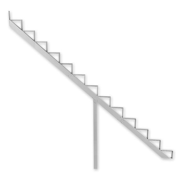 "Rebord d'escalier 13 marches, 7,5"" x 9"", aluminium, blanc"
