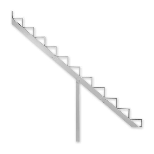 "Rebord d'escalier 11 marches, 7,5"" x 9"", aluminium, blanc"