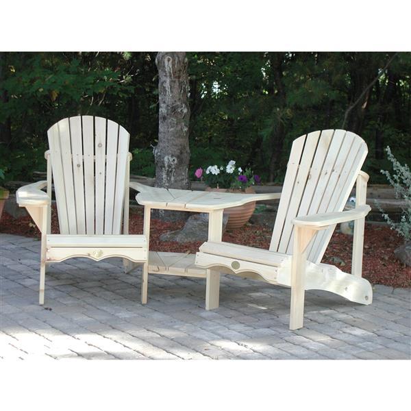 """Chaises d'extérieur, 20"""" x 14"""", pin, blanc, ens. de 2"""