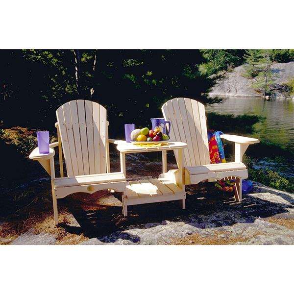 The Bear Chair Company Outdoor Chairs 20-in x 14-in  White Pine