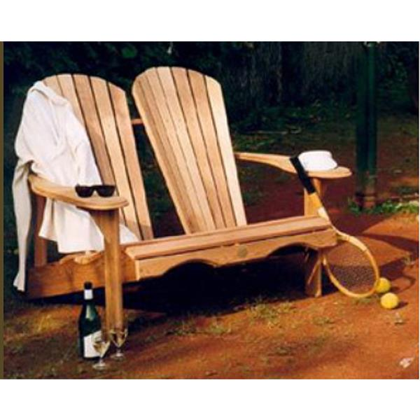 The Bear Chair Company Outdoor Bench 20-in x 14-in Red Cedar